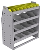 "25-3536-4 Profiled back bin separator combo Shelf unit 34.5""Wide x 15.5""Deep x 36""High with 4 shelves"