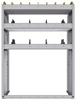 "25-3548-3 Profiled back bin separator combo Shelf unit 34.5""Wide x 15.5""Deep x 48""High with 3 shelves"