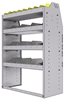"25-3548-4 Profiled back bin separator combo Shelf unit 34.5""Wide x 15.5""Deep x 48""High with 4 shelves"