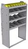 "25-3558-4 Profiled back bin separator combo Shelf unit 34.5""Wide x 15.5""Deep x 58""High with 4 shelves"