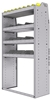 "25-3563-4 Profiled back bin separator combo Shelf unit 34.5""Wide x 15.5""Deep x 63""High with 4 shelves"