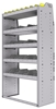 "25-3563-5 Profiled back bin separator combo Shelf unit 34.5""Wide x 15.5""Deep x 63""High with 5 shelves"