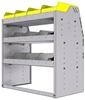 "25-3836-3 Profiled back bin separator combo Shelf unit 34.5""Wide x 18.5""Deep x 36""High with 3 shelves"