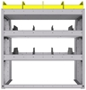 "25-3836-3 Profiled back bin separator combo Shelf unit 34.5""Wide x 18.5""Deep x 36""High with 3 shelves"