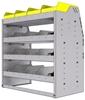 "25-3836-4 Profiled back bin separator combo Shelf unit 34.5""Wide x 18.5""Deep x 36""High with 4 shelves"