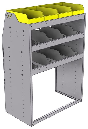 "25-3848-3 Profiled back bin separator combo Shelf unit 34.5""Wide x 18.5""Deep x 48""High with 3 shelves"