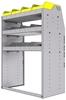 "25-3848-3 Profiled back bin separator combo Shelf unit 34.5""Wide x 18.5""Deep x 48""High with 3 shelves"