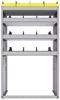 "25-3858-4 Profiled back bin separator combo Shelf unit 34.5""Wide x 18.5""Deep x 58""High with 4 shelves"