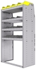 "25-3863-4 Profiled back bin separator combo Shelf unit 34.5""Wide x 18.5""Deep x 63""High with 4 shelves"
