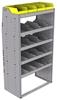 "25-3863-5 Profiled back bin separator combo Shelf unit 34.5""Wide x 18.5""Deep x 63""High with 5 shelves"