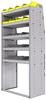"25-3872-5 Profiled back bin separator combo Shelf unit 34.5""Wide x 18.5""Deep x 72""High with 5 shelves"