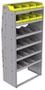 "25-3872-6 Profiled back bin separator combo Shelf unit 34.5""Wide x 18.5""Deep x 72""High with 6 shelves"