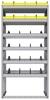 "25-3872-6 Profiled back bin separator combo Shelf unit 34.5""Wide x 18.5""Deep x 72""High with 6 shelves"