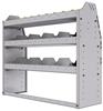 "25-4336-3 Profiled back bin separator combo Shelf unit 43""Wide x 13.5""Deep x 36""High with 3 shelves"