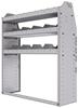 "25-4348-3 Profiled back bin separator combo Shelf unit 43""Wide x 13.5""Deep x 48""High with 3 shelves"