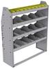 "25-4348-4 Profiled back bin separator combo Shelf unit 43""Wide x 13.5""Deep x 48""High with 4 shelves"