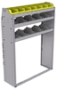 "25-4358-3 Profiled back bin separator combo Shelf unit 43""Wide x 13.5""Deep x 58""High with 3 shelves"