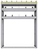 "25-4358-3 Profiled back bin separator combo Shelf unit 43""Wide x 13.5""Deep x 58""High with 3 shelves"
