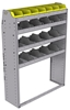 "25-4358-4 Profiled back bin separator combo Shelf unit 43""Wide x 13.5""Deep x 58""High with 4 shelves"
