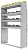 "25-4363-4 Profiled back bin separator combo Shelf unit 43""Wide x 13.5""Deep x 63""High with 4 shelves"