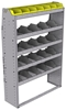 "25-4363-5 Profiled back bin separator combo Shelf unit 43""Wide x 13.5""Deep x 63""High with 5 shelves"