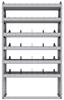 "25-4372-6 Profiled back bin separator combo Shelf unit 43""Wide x 13.5""Deep x 72""High with 6 shelves"