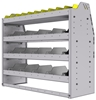 "25-4536-4 Profiled back bin separator combo Shelf unit 43""Wide x 15.5""Deep x 36""High with 4 shelves"