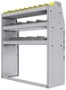 "25-4548-3 Profiled back bin separator combo Shelf unit 43""Wide x 15.5""Deep x 48""High with 3 shelves"