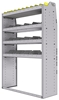 "25-4563-4 Profiled back bin separator combo Shelf unit 43""Wide x 15.5""Deep x 63""High with 4 shelves"