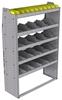 "25-4563-5 Profiled back bin separator combo Shelf unit 43""Wide x 15.5""Deep x 63""High with 5 shelves"
