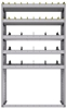 "25-4572-5 Profiled back bin separator combo Shelf unit 43""Wide x 15.5""Deep x 72""High with 5 shelves"