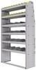 "25-4572-6 Profiled back bin separator combo Shelf unit 43""Wide x 15.5""Deep x 72""High with 6 shelves"