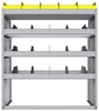 "25-4848-4 Profiled back bin separator combo Shelf unit 43""Wide x 18.5""Deep x 48""High with 4 shelves"