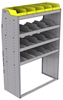 "25-4863-4 Profiled back bin separator combo Shelf unit 43""Wide x 18.5""Deep x 63""High with 4 shelves"