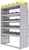 "25-4863-5 Profiled back bin separator combo Shelf unit 43""Wide x 18.5""Deep x 63""High with 5 shelves"