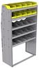 "25-4872-5 Profiled back bin separator combo Shelf unit 43""Wide x 18.5""Deep x 72""High with 5 shelves"