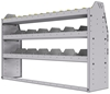 "25-5336-3 Profiled back bin separator combo Shelf unit 58.5""Wide x 13.5""Deep x 36""High with 3 shelves"
