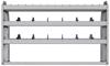 "25-5336-3 Profiled back bin separator combo Shelf unit 58.5""Wide x 13.5""Deep x 36""High with 3 shelves"