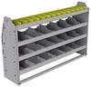 "25-5336-4 Profiled back bin separator combo Shelf unit 58.5""Wide x 13.5""Deep x 36""High with 4 shelves"