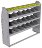 "25-5348-4 Profiled back bin separator combo Shelf unit 58.5""Wide x 13.5""Deep x 48""High with 4 shelves"