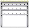 "25-5358-4 Profiled back bin separator combo Shelf unit 58.5""Wide x 13.5""Deep x 58""High with 4 shelves"