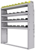 "25-5363-4 Profiled back bin separator combo Shelf unit 58.5""Wide x 13.5""Deep x 63""High with 4 shelves"
