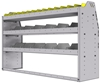 "25-5536-3 Profiled back bin separator combo Shelf unit 58.5""Wide x 15.5""Deep x 36""High with 3 shelves"