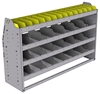 "25-5536-4 Profiled back bin separator combo Shelf unit 58.5""Wide x 15.5""Deep x 36""High with 4 shelves"