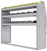 "25-5548-3 Profiled back bin separator combo Shelf unit 58.5""Wide x 15.5""Deep x 48""High with 3 shelves"