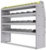 "25-5548-4 Profiled back bin separator combo Shelf unit 58.5""Wide x 15.5""Deep x 48""High with 4 shelves"