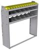 "25-5558-3 Profiled back bin separator combo Shelf unit 58.5""Wide x 15.5""Deep x 58""High with 3 shelves"