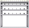 "25-5558-4 Profiled back bin separator combo Shelf unit 58.5""Wide x 15.5""Deep x 58""High with 4 shelves"