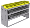 "25-5836-3 Profiled back bin separator combo Shelf unit 58.5""Wide x 18.5""Deep x 36""High with 3 shelves"