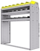 "25-5858-3 Profiled back bin separator combo Shelf unit 58.5""Wide x 18.5""Deep x 58""High with 3 shelves"
